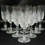 Baccarat Cut Crystal Colbert Pattern Set Of 10 Fluted Champagne Glasses Bdr