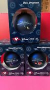 Lot Of 3 Disney Cruise Line Itinerary Glass Ball Ornaments