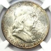 1949-s Franklin Half Dollar 50c Coin. Ngc Ms66+ Fbl Cac Plus Grade - 1450 Value