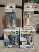 Funko Pop Star Wars Boba Fett Lot Animated And Prototype With Matching Pez
