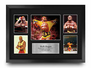 Hulk Hogan A3 Framed Wrestling Gift Printed Autograph Picture For Wwe And Wwf Fans