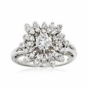 C. 1980 Vintage 1.10 Ct. T.w. Diamond Ring In 18kt White Gold. Size 6