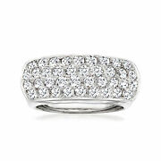 C. 1980 Vintage 1.35 Ct. T.w. Pave Diamond Ring In 18kt White Gold. Size 6