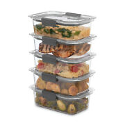 Rubbermaid Brilliance Food Storage Containers, 3.2 Cup, 5 Pack