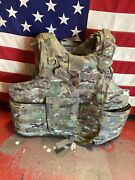 Army Multicam Body Armor Plate Carrier Made W/kevlar Inserts Small