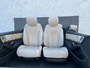 Mercedes W222 S63 S550 S600 Designo Leather Seat Set Door Panel Front And Rear Oem