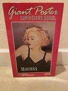 New Sealed Madonna 1990 Giant Poster Superstars 500 Piece Puzzle 2 Ft. X 3 Ft.