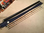Vtg Mitre Hardy Bamboo Fly Rod Dunkeld 12andrsquo Salmon Two Handed Spey Nice