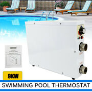 9kw 380v Electric Swimming Pool Water Heater Thermostat Hot Tub Jacuzzi Spa Us