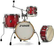 Sonor 4pc Aqx Micro Drum Set Red Moon Sparkle