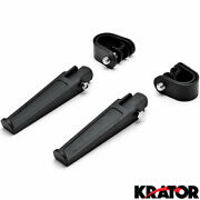 Black Engine Guard Foot Pegs + Clamps For Honda Nt 650 700 700v Hawk Gt
