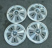 Hubcaps Wheel Covers 1966 Ford Mustang 5 Slots W/o Spinner 14 Steel Wheels Rims