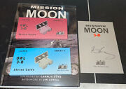 Brian May Signed Book David Eicher Mission Moon 3-d Stereo Cards