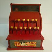 Toy Cash Register Childrens Tin Toys Happi Time Tom Thumb Collectable