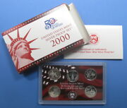 2000 Silver State Quarter 5pc Proof Set With Government Packaging And Coa