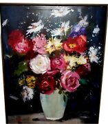 Floral On Canvas Print Hanging Sign 22x28 Home Decor Decoration