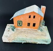 Vtg Christmas Putz House Village Decorations Made In Japan 6.75 X 3.5 X 4