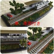Model Railroad Gauge Diorama The Scenery Of Station Platform With Clear Case