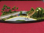 Model Railroad Gauge Diorama Scenery With Bus Stop In The Country Clear Case