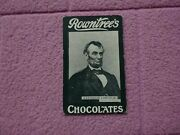 Rowntree Chocolate 1905 - Celebrities Abraham Lincoln