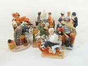 Norman Rockwell The Danbury Mint 7 Figurines - Free Shipping Usa