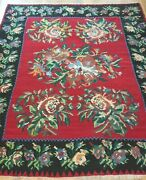 Antique Bessarabian Kilim Hand Woven Wool Gorgeous Rug Cleaned 8and0398 X 11and0393
