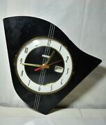 Vintage Wall Clock Bayard Made In France Collectible-wooden Clock