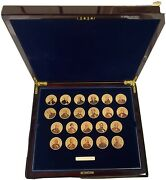 22 1 Oz Collection Presidential 24k Gold .999 Silver Bars Ingots Coins
