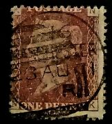 Gb Qv Penny Red 1858-79 1d Letters Nk Pr149 Free Shipping Registered Mail