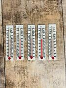Vintage Replacement Thermometer Refills Lot Of 5 Fahrenheit Only 3 1/8 X 5/8