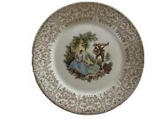 Vintage American Limoges Triumph China Dand039or 10andrdquo 22k Gold Dinner Plates Set Of 4