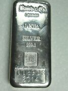 2014 Baird And Co London 1kg 1 Kilo 999 Fine Silver Investment Bar Low Serial