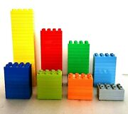 Lot Of 90 Lego Duplo Thin Base Plate 2x4 Blocks Pieces Parts Various Colors