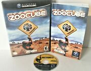 Zoocube Nintendo Gamecube Complete Manual Disc Case Puzzle Game Zoo Cube Animals