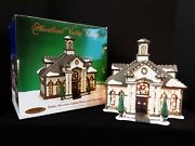 Heartland Valley Village Porcelain Fiber Optic Lighted White Colonial House