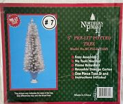 Vintage 5andrsquo Northern Forest Pre-lit Potted Artificial Christmas Tree Nip