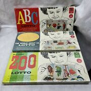 3 Vintage Ed-u-cards Lotto School Edition Zoo World About Us Abc All Sealed