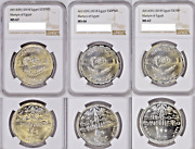 Egypt Martyrs Set 25 50 And 100 Pounds 2018 Ngc 67 66 67 Extremelly Rare