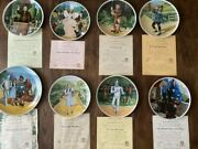 Bradford Exchange Wizard Of Oz Knowles Collectors Plates Set Of 8 With Coa 1970s