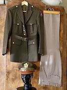 Army Air Corps Ww Ii Officer Pinks And Greens Dress Uniform Very Clean