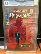 Amazing Spiderman 50 Cgc 7.0 White Pages 1st Kingpin