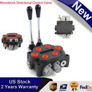 2 Spool Monoblock Hydraulic Control Valve 25gpm Double Acting Tractors Loaders