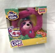 Little Live Pets Rollo The Sloth Interactive Pink Plush Toy New