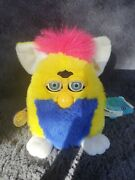 Vintage 1999 Primary Furby Babies Yellow And Blue Working