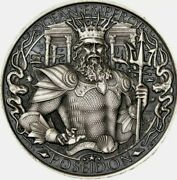 Atlantis 1 Oz Silver Round - Mythical Cities Series Antique Finish .999 Pure