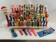 Pez Dispensers Lot Of 63 All Different