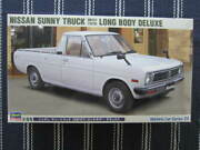 1/24 Nissan 1979 Sunny Truck Gb121 Long Bondy Deluxe White High-speed Lead Old