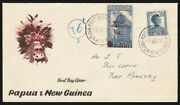 Papua New Guinea 1960 And039postal Charges 6dand039 On 7andfrac12d. Rare Genuine Cover