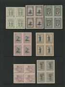 Papua 1932 Pictorial Set Andfrac12d-andpound1 Blocks Mnh . Extremely Rare In Blocks