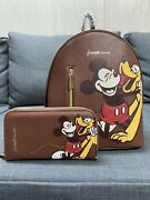 Danielle Nicole Disney Mickey Mouse And Pluto Mini Backpack And Wallet Nwts
